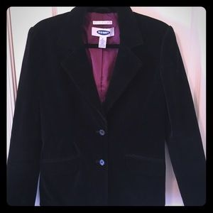 Old Navy suede blazer with cozy lining